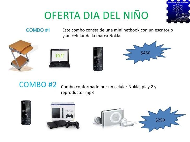 OFERTA DIA DEL NIÑO<br />COMBO #1<br />Este combo consta de una mini netbook con un escritorio y un celular de la marca No...