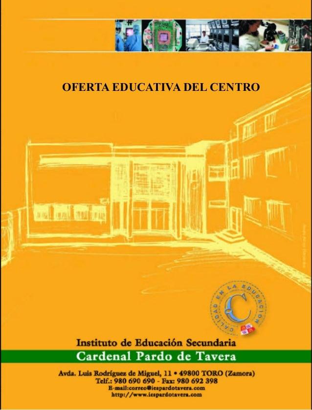 OFERTA EDUCATIVA DEL CENTRO
