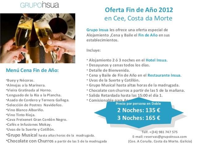 Oferta Fin de Año 2012                                                       en Cee, Costa da Morte                       ...