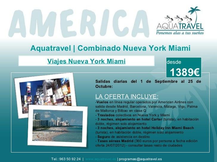 Aquatravel | Combinado Nueva York Miami    Viajes Nueva York Miami                                               desde    ...