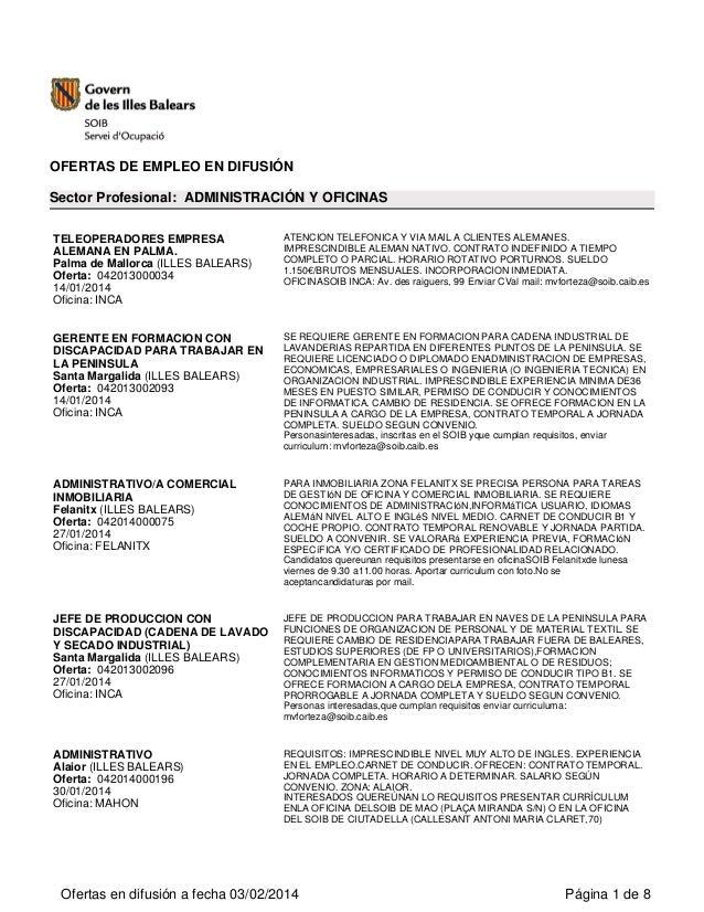 Ofertas Enpleo Soib Febrero 2014 (1)