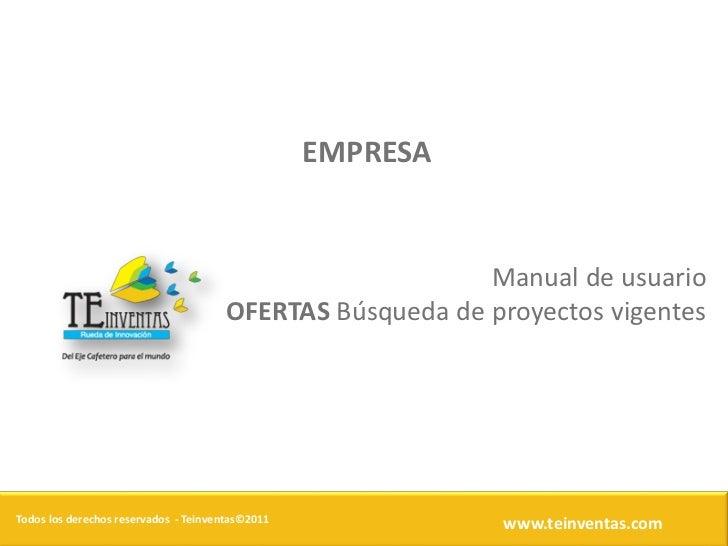 EMPRESA                                                          Manual de usuario                                      OF...