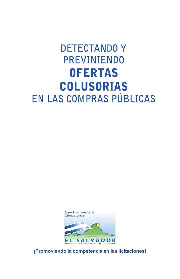 Detectando y previniendo ofertas colusorias en las Compras Gubernamentales de El Salvador