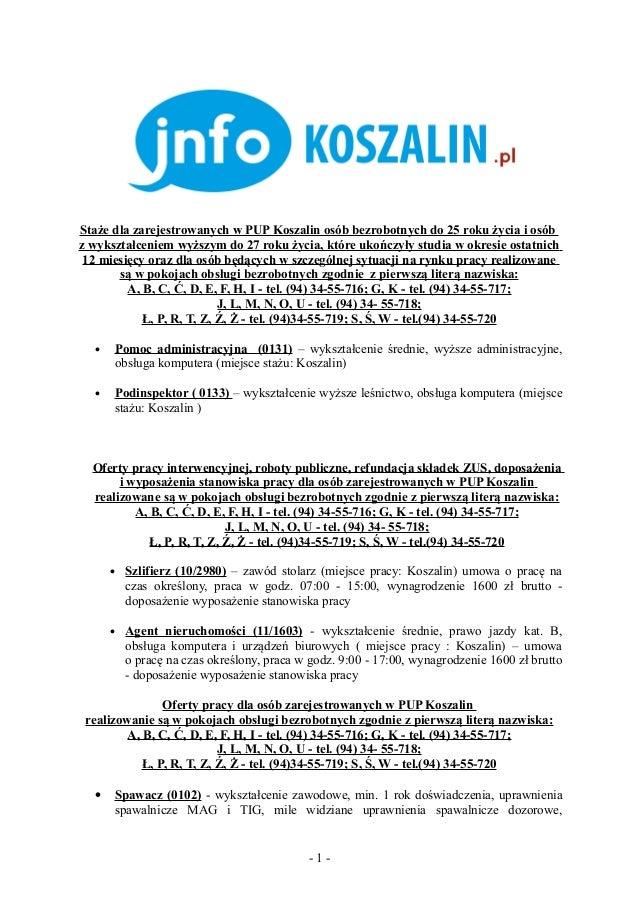 Oferty pracy 06.02.2013