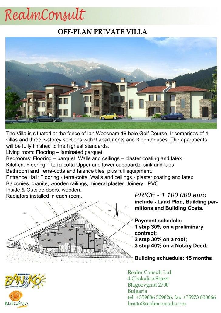 Off Plan Private Villa