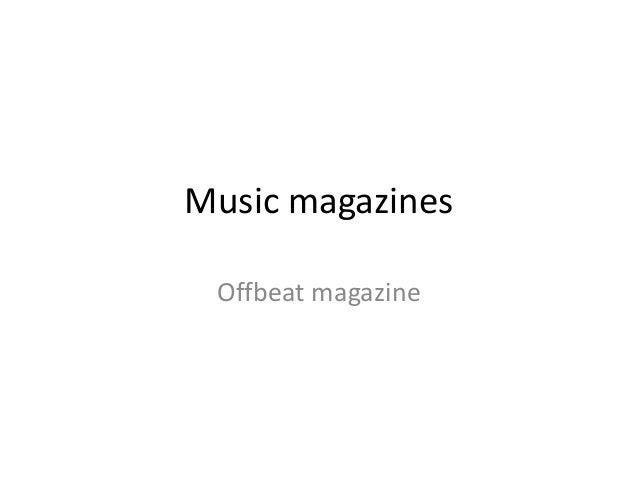 Music magazines Offbeat magazine