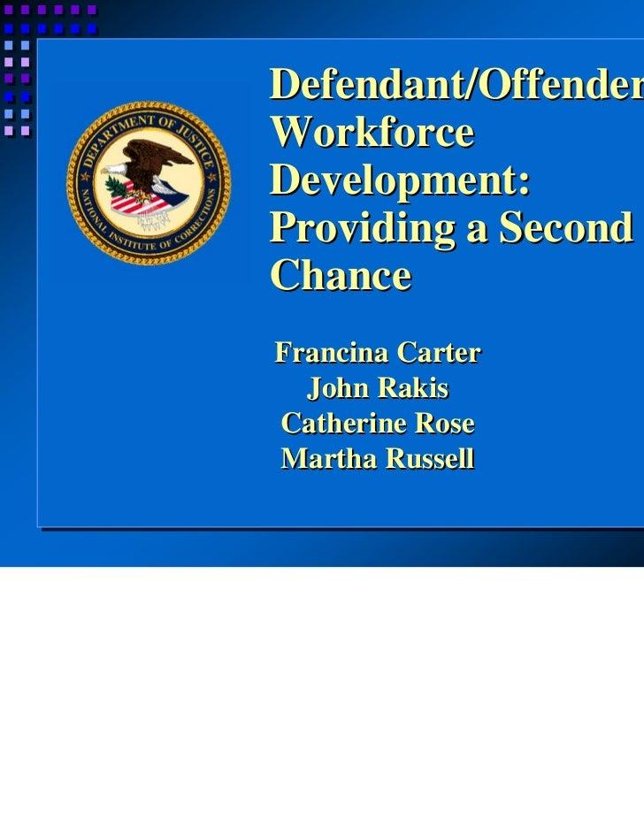 Offender Workforce Development