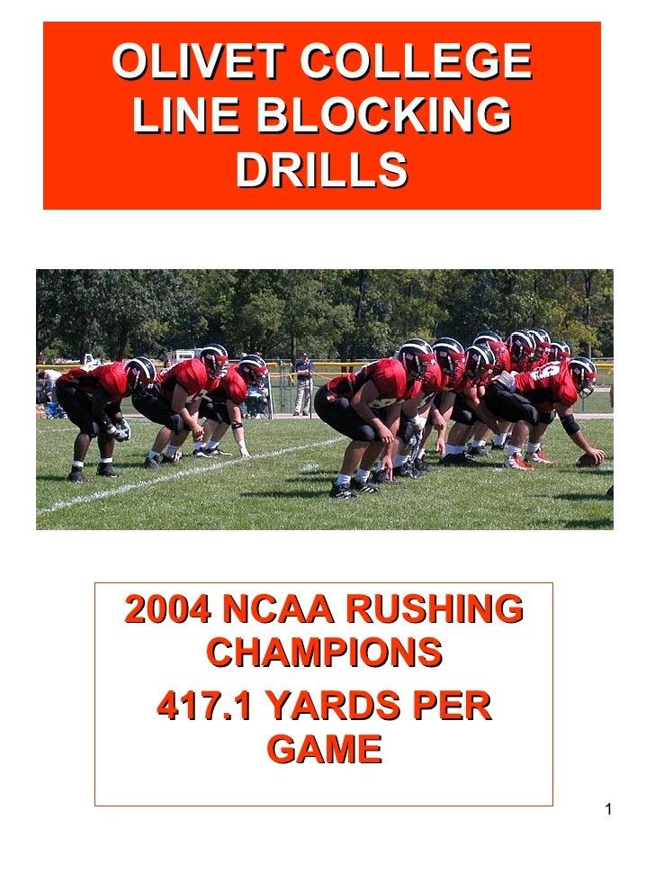 Offensive Line Drills`