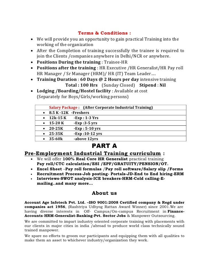Offer Letter Format Doc India