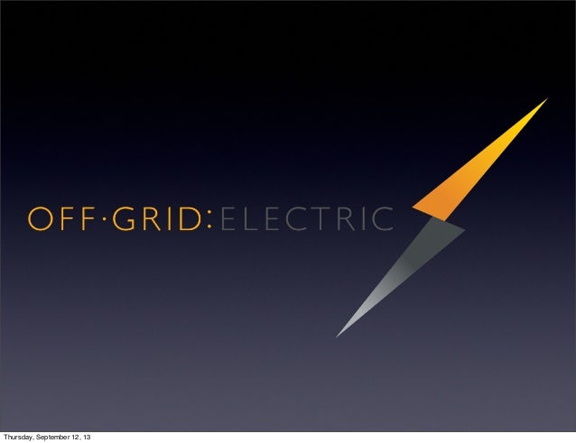 Off-Grid: Electric