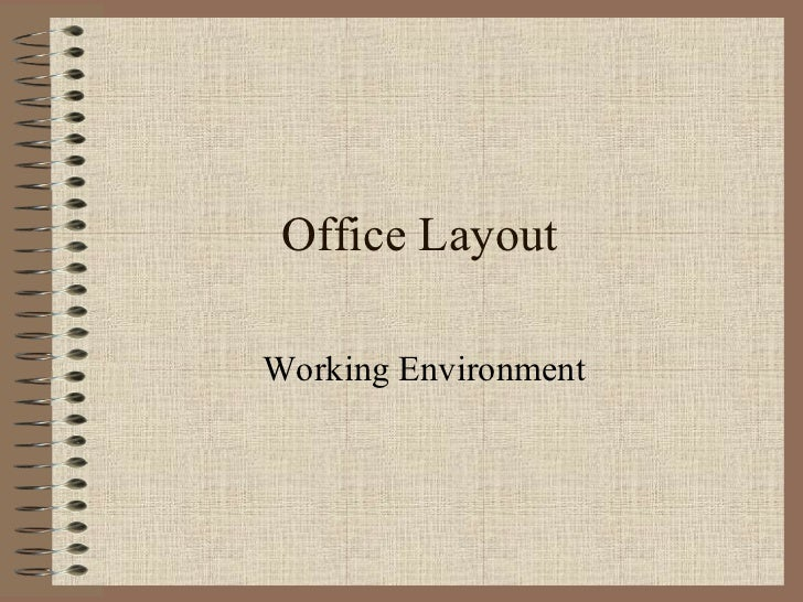 Office Layout Working Environment