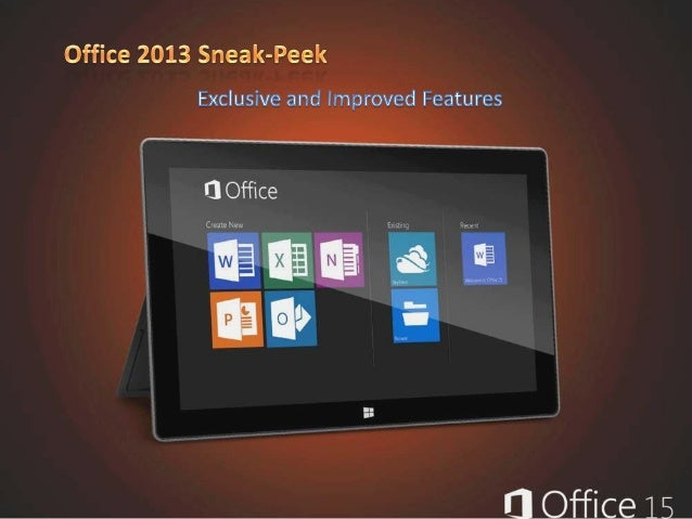 Microsoft Office 15 Sneak-Peek ©RIL