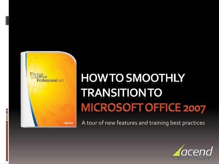 Office 2007 Seminar