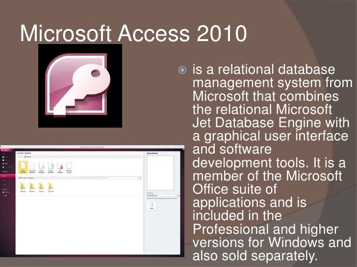 exploring the uses of microsoft database and jet engine An active server pages tutorial, part 2 the microsoft jet database engine is an example of a back-end the jet engine interacts with the database file to.