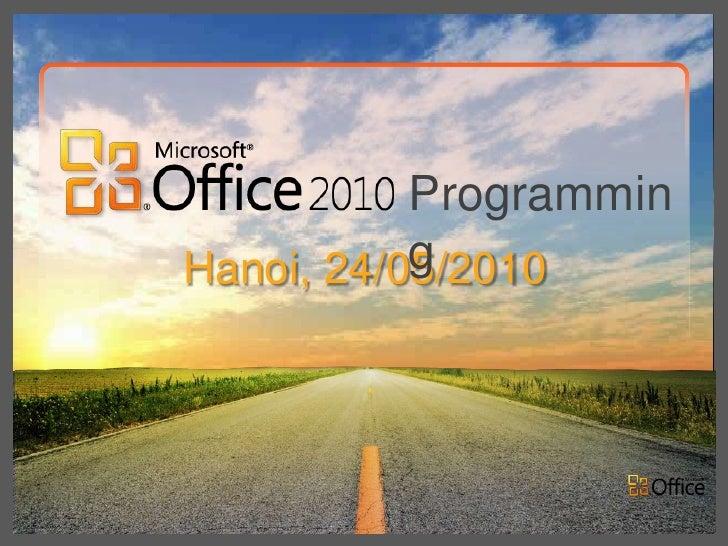 Programmin           gHanoi, 24/05/2010
