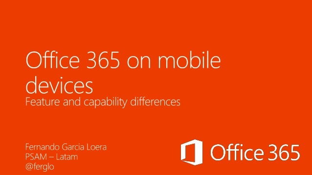 Office 365 on mobile devices