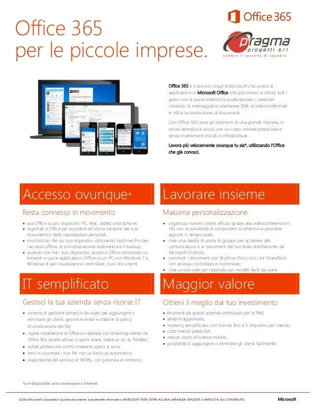 Office 365per le piccole imprese.                                                                                         ...