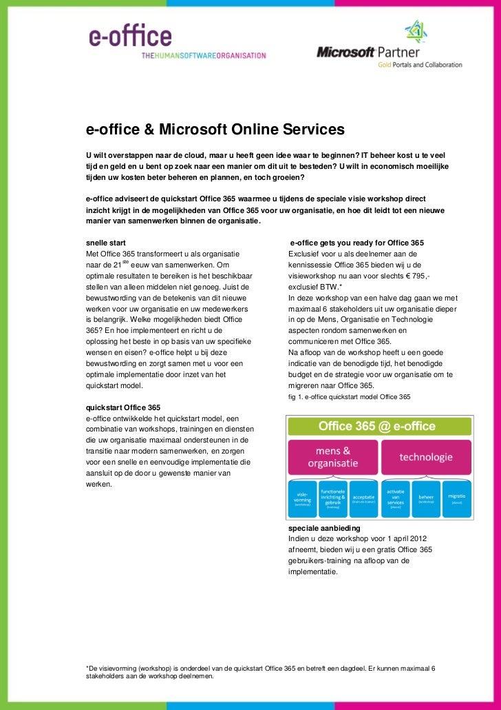 e-office Office 365 quickstart