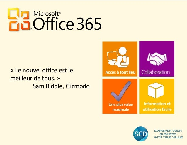 « Le nouvel office est le meilleur de tous. » Sam Biddle, Gizmodo