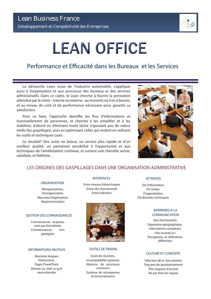 Lean Business France Développement et Compétitivité des Entreprises           Performance et Efficacité dans les Bureaux e...