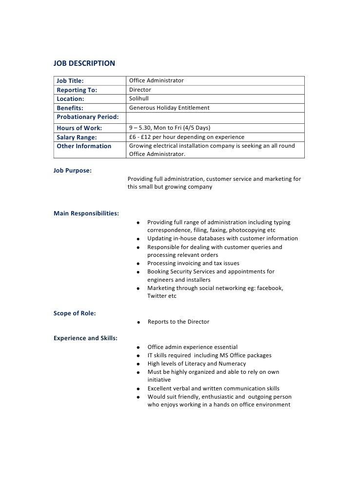 Office admin draft 07.09.11