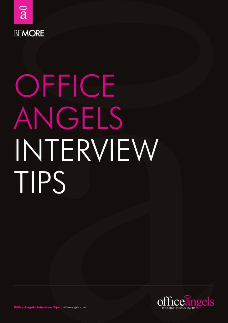 OFFICEANGELSINTErVIEwTIPSOffice Angels Interview Tips | office-angels.com
