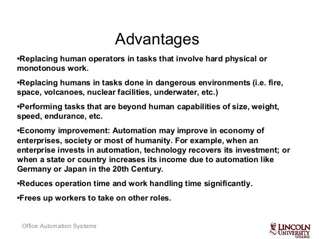 what is office automationoffice automation systems 4 advantagesreplacing advantages of office automation