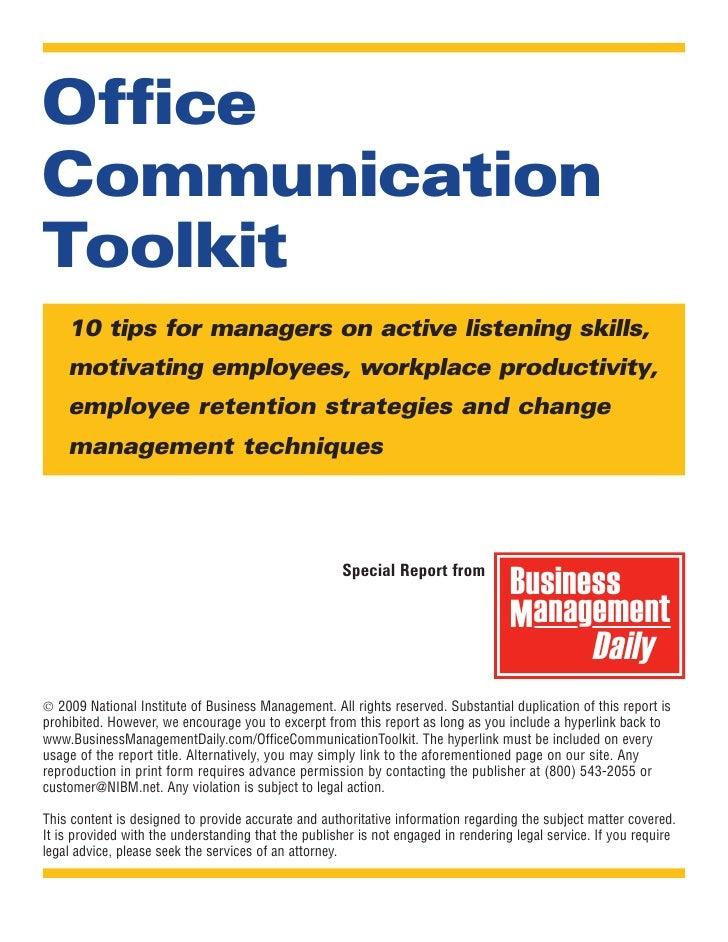 Office Communication Toolkit