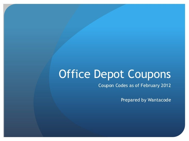 Office depot coupons 2012 coupon codes - Office depot discount code ...
