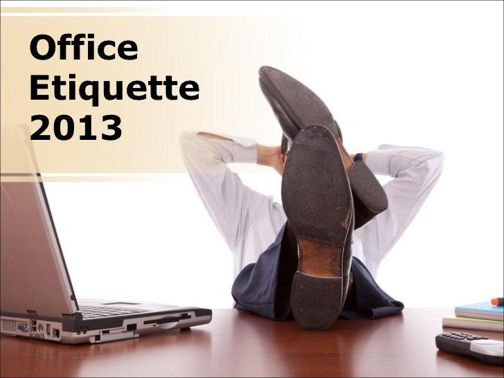 Office Etiquette PowerPoint Presentation