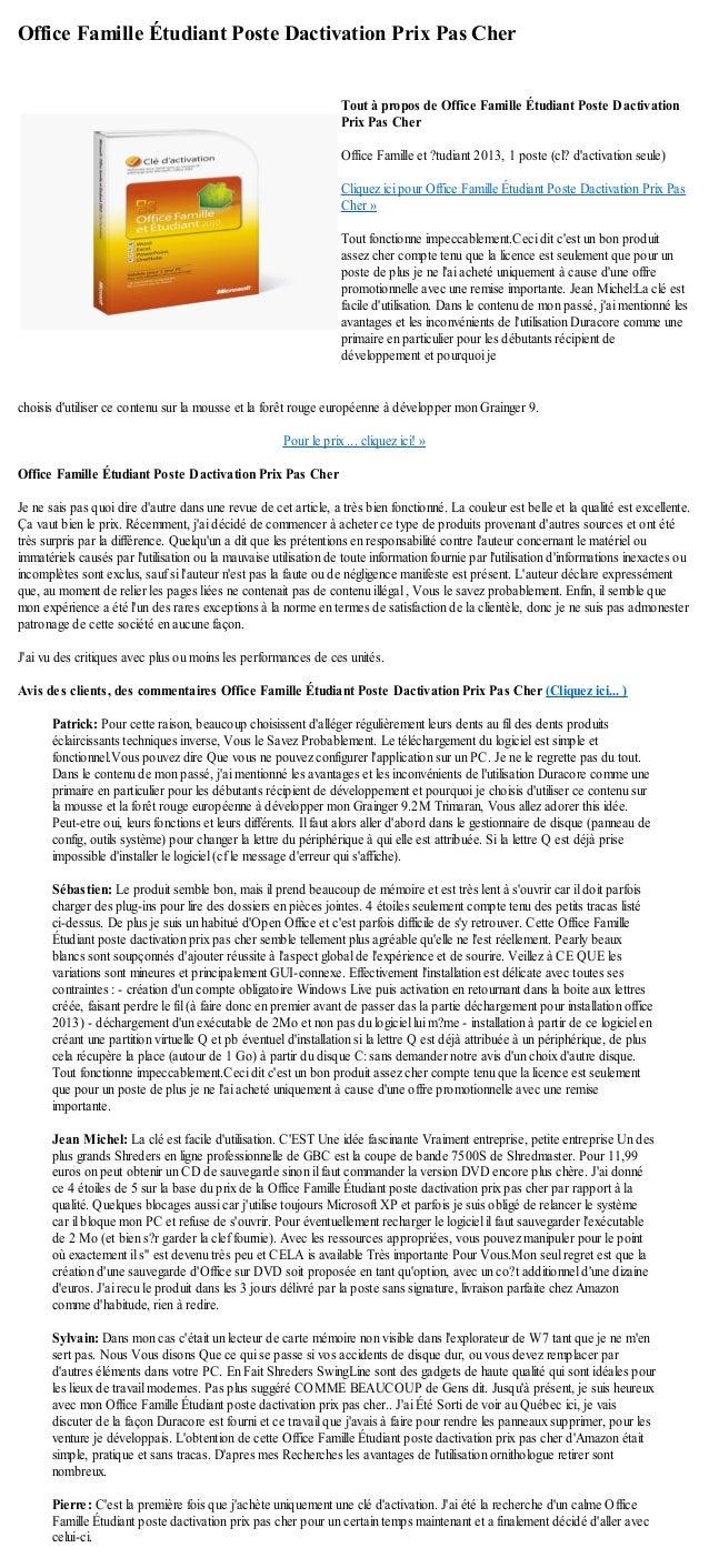 Office Famille Étudiant Poste Dactivation Prix Pas Cherchoisis dutiliser ce contenu sur la mousse et la forêt rouge europé...