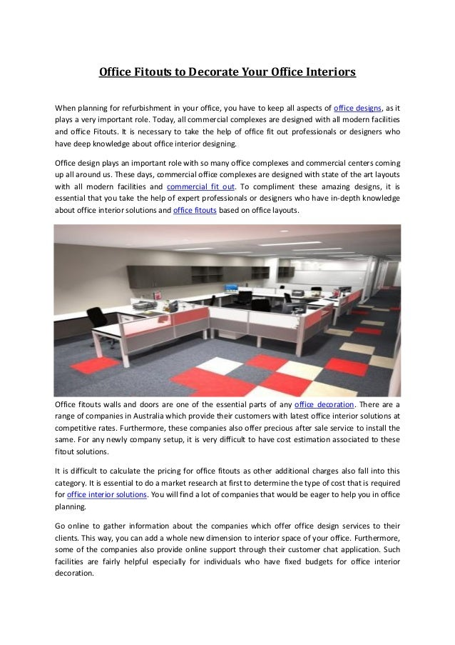 Office fitouts office design office interior solutions for Office interior solutions