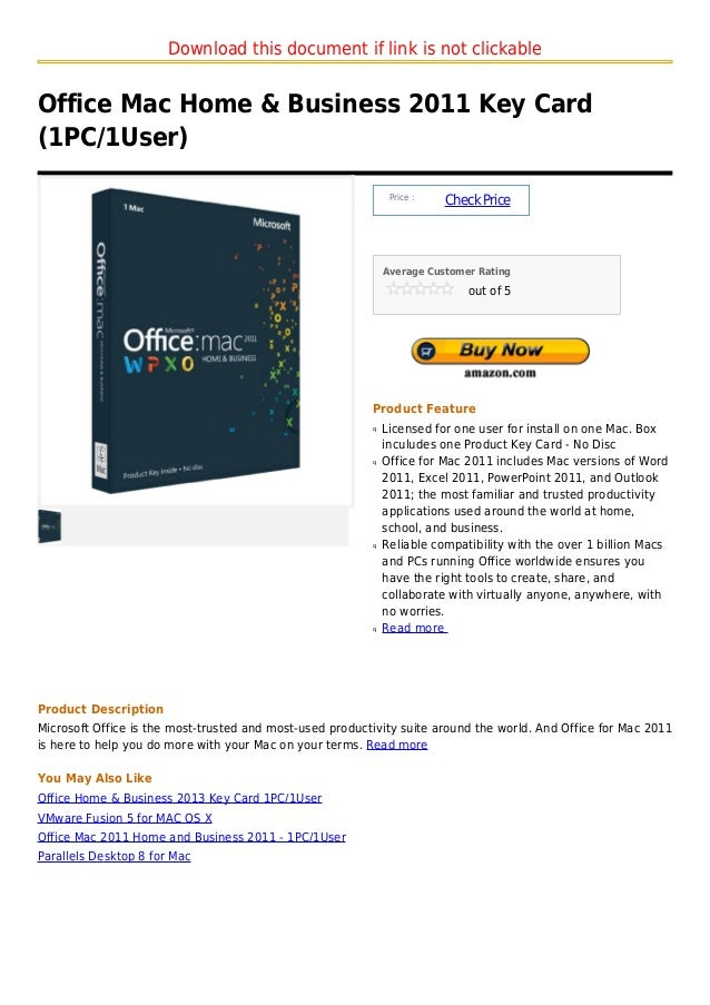Download this document if link is not clickableOffice Mac Home & Business 2011 Key Card(1PC/1User)                        ...