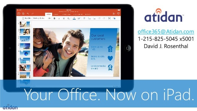 Microsoft Office on iPad commercial licensing -  presented by Atidan