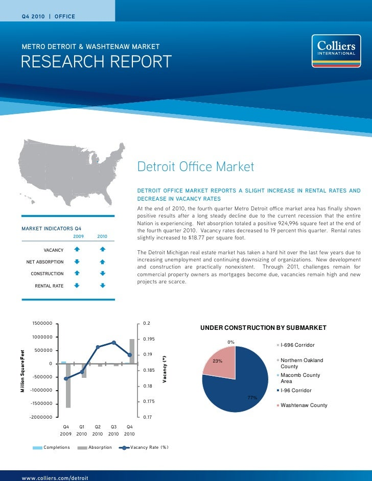 Q4 2010 | OFFICE       METRO DETROIT & WASHTENAW MARKET RESEARCH REPORT                                                   ...