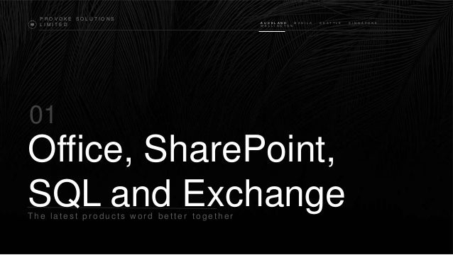 Office, share point, exchange 2013 and sql 2012 better together
