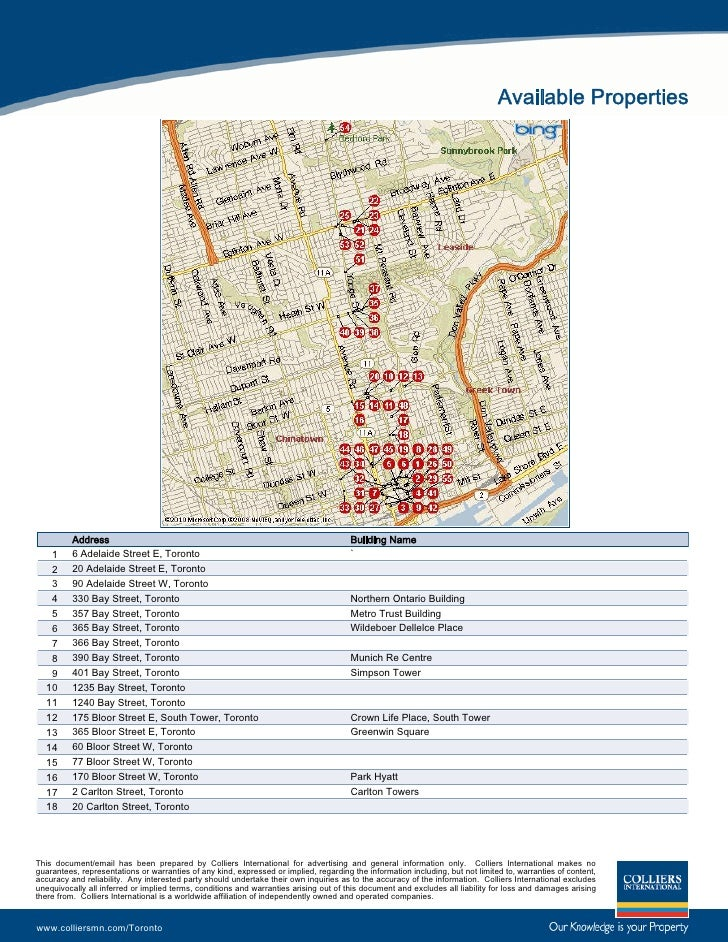 Available Properties               Address                                                                      Building N...