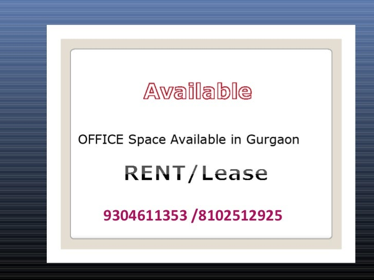 fully furnished office space in gurgaon 9304611353