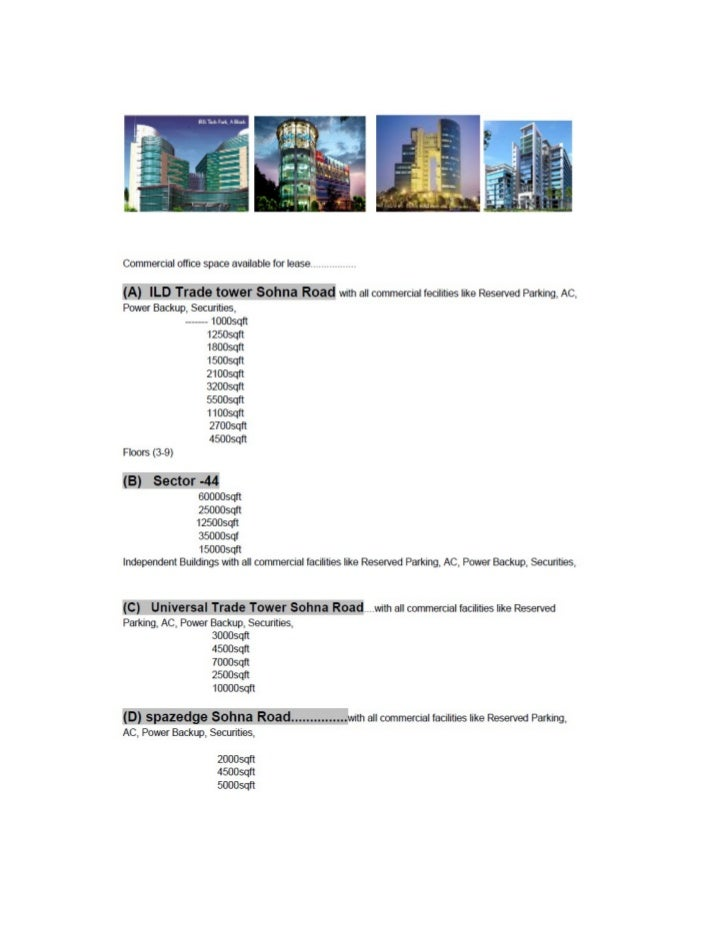 Office space on rent in gurgaon 9304611353