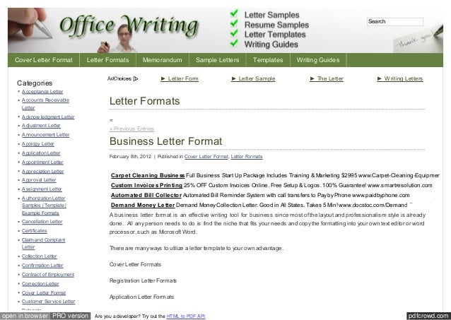 Officewriting com category_letter_formats