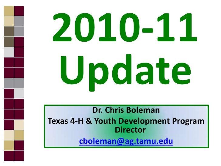Official final   sept 2010 faculty update