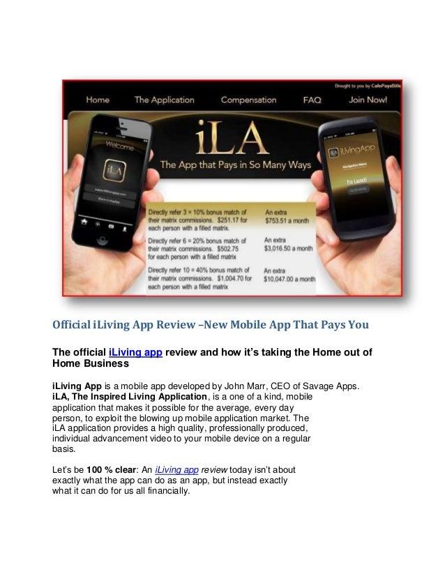 Official I Living App Review www.ilivingapp.com/cafepaysbills