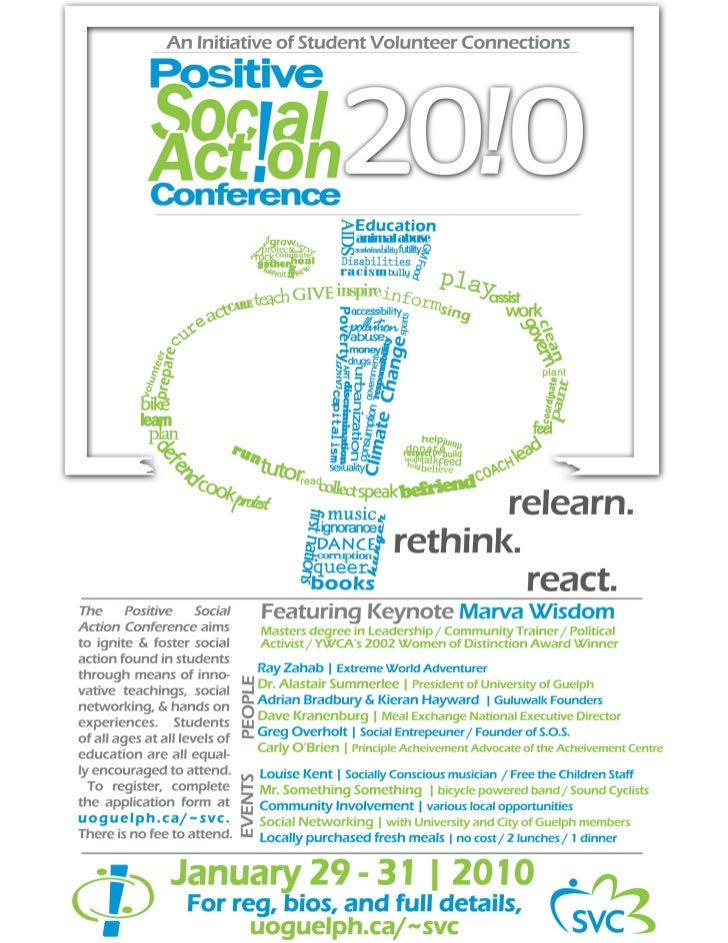 Poster for Positive Social Action Conference 2010