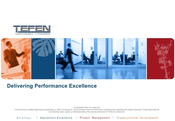 Delivering Performance Excellence