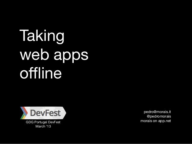 Taking Web Apps Offline