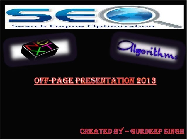 All new SEO Off Page Techniques 2013