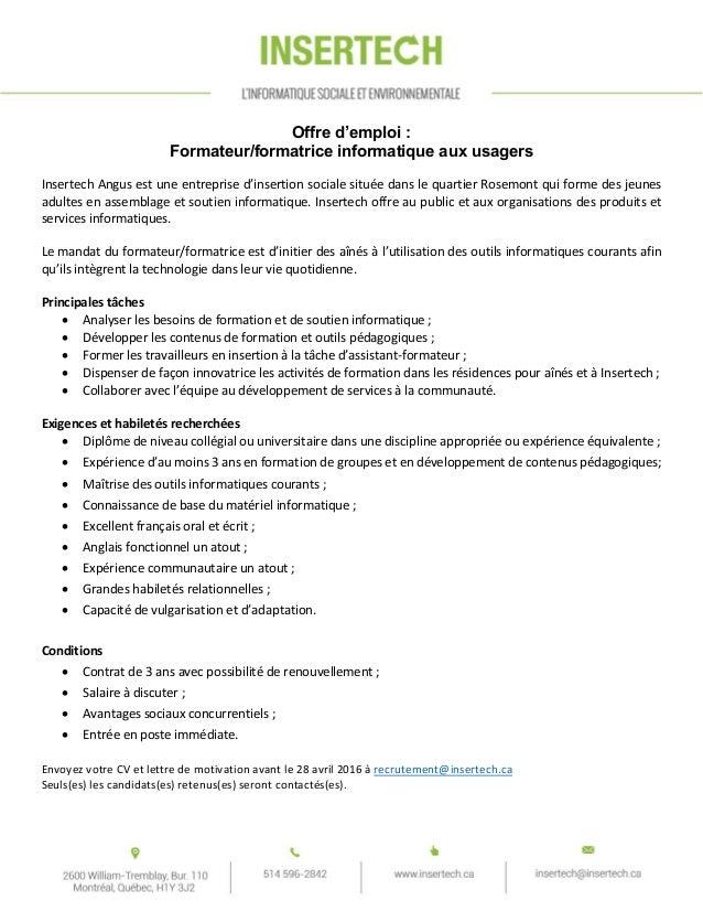 offre d u0026 39 emploi