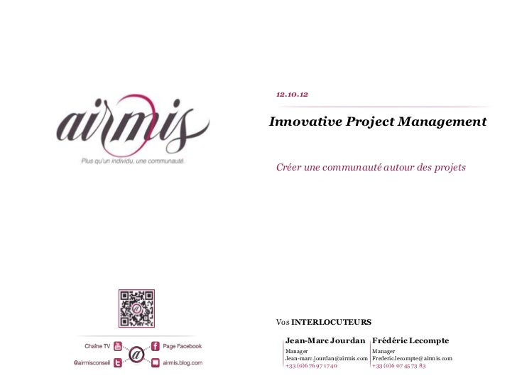 Innovative Project Management