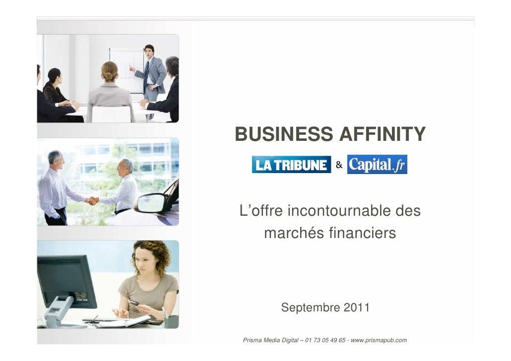 BUSINESS AFFINITY                                &L'offre incontournable des    marchés financiers             Septembre 2...