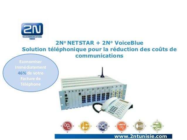 2N® NETSTAR + 2N® VoiceBlue  Solution téléphonique pour la réduction des coûts de                    communications  Econo...